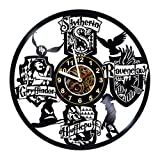 Cheap Harry Potter Merchandise – Vinyl Record Wall Clock – Hogwarts Poster – Room wall decor – Gift ideas for boys and girls, teens, friends – Unique Art Design – Harry Potter Poster – Party Favors Stuff