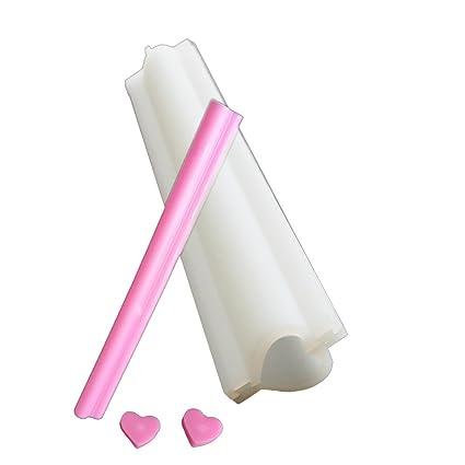 Amazon.com: x-haibei Corazón Tubo Columna silicona jabón ...