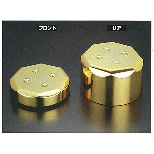 三菱大型用センターキャップ 金メッキ (8穴ホイール用) 一台分 B01M7Y23QB