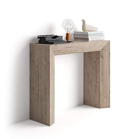 Consolle 30 Cm.Mobili Fiver Giuditta Entrance Hall Console Table Wood Oak 90 X 30 X 75 Cm