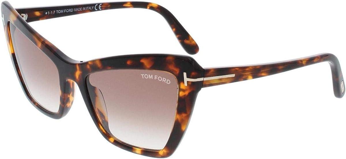 TOM FORD VALESCA WOMENS CAT EYE SUNGLASSES HAVANA BROWN GRADIENT FT 0555 52F