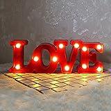'' LOVE'' Romantic Creative Design LED Night Light Lamp 11.8'' x 3.9'' Wedding Valentines Decoration Bedroom Bedside Decorative Night Wall Lamp Holiday Birthday Gift