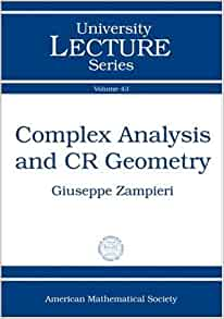 Complex analysis and CR geometry