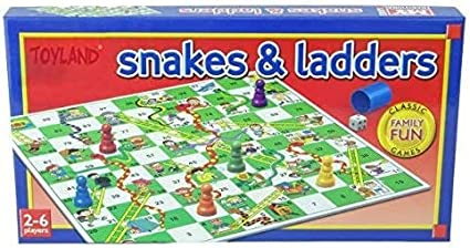 Traditional snakes and ladders game