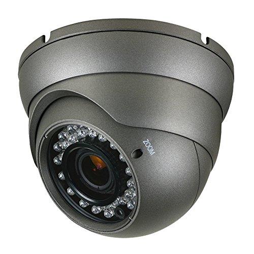 Anpviz Analog CCTV Camera HD 1080P 4-in-1(TVI/AHD/CVI/CVBS) Security Dome Camera, 2.8mm-12mm Varifocal Lens, True Day & Night Monitoring IP66 (Black) by Anpviz