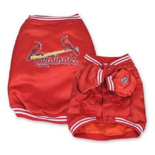 St Louis Cardinals Jackets (Sporty K9 Cardinals Dugout Jacket for Dogs, X-Large)