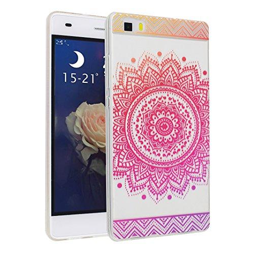 Huawei P8 Lite Case, Asnlove Carcasa TPU Silicona Bumper Shock-Absorción Slim Silicon Funda Trasera Back Cover Phone Shell Protector Funda Para Huawei P8 Lite Totem-5