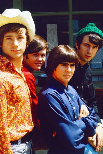 The Monkees Davy Jones Peter Tork Group Pose Stetson Beanie Hat Poster