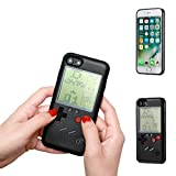 Retro Gameboy Phone Case Playable Tetris Case Phone Case Cover Protector for iPhone 6/6s Plus 7/8 Plus X (Black, For Iphone 7/8 plus)
