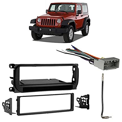 Amazon Fits Jeep Wrangler 20032006 Single Din Stereo Harness. Fits Jeep Wrangler 20032006 Single Din Stereo Harness Radio Install Dash Kit. Jeep. Jeep Wrangler Car Stereo Harness At Scoala.co