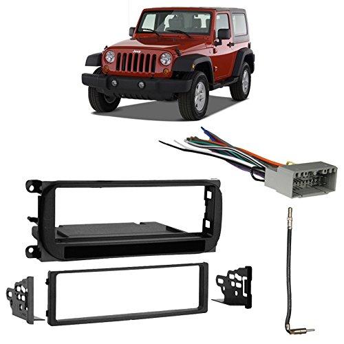 Jeep Wrangler Installation Instructions - Fits Jeep Wrangler 2003-2006 Single DIN Stereo Harness Radio Install Dash Kit