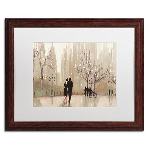 Purinton Apple (An Evening Out Neutral Artwork by Julia Purinton Wood Frame, 16 by 20-Inch, White Matte)
