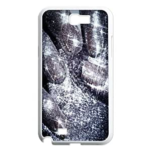 Silver Bling Classic Personalized Phone Case for Samsung Galaxy Note 2 N7100,custom cover case ygtg592281