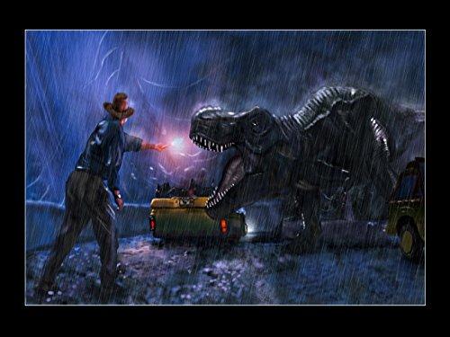 Jurassic Park Movie Alan Grant Tyrannosaurus T-Rex Art Print Poster