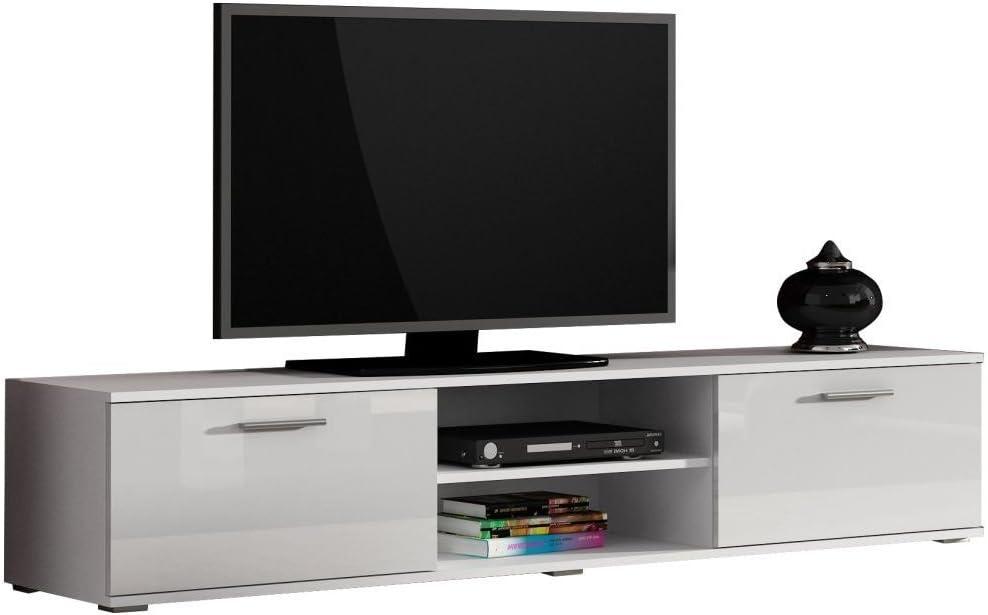 JUSTyou Saho Mueble para TV Mesa televisión salón 180 cm Color: Blanco: Amazon.es: Hogar