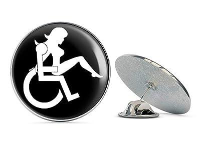 3d46c75ea52c13 Amazon.com: NYC Jewelers Round Black Wheelchair Logo w Sexy Girl ...
