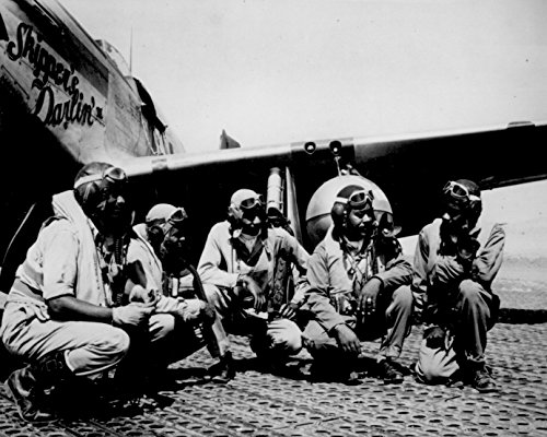- -Fliers Of A P-51 Mustang Group Of The 15th Air Force In Italy Tuskegee Airmen WWII 8X10 PHOTO AFRICAN AMERICAN-Photogrpahs PRINTED ON HIGH END STOCK FUJI FILM