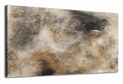 Brown Art Decor (arteWOODS Abstract Canvas Wall Art Vintage Tan Fantastic Painting Prints 20