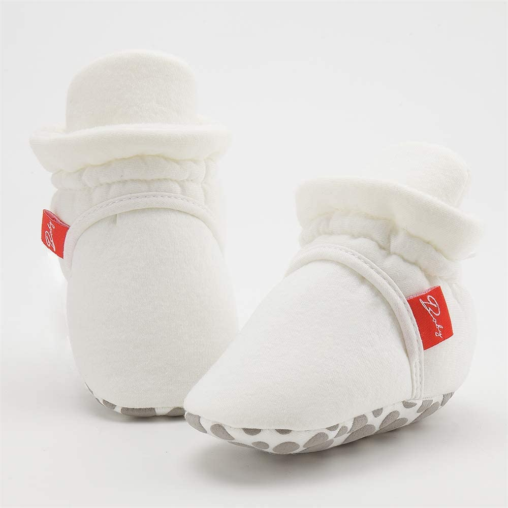COUCOU/Baby/Boys/Girls/Booties/Cotton/Cozy/Infant/Baby/Shoes/Non-Skid/Soft/Sole/Ankle/Boots/with/Grippers/Slippers/Socks/Toddler/First/Walking/Sho