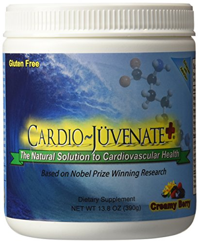 Cardio Juvenate Plus Creamy Berry Cardio Health Formula: Nitric Oxide Supplement 5000mg L-arginine, 1000mg L-citrulline, 1000mg L-carnitine per serving to support heart health and blood pressure