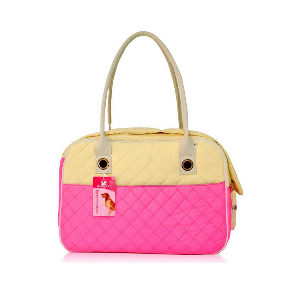 402228cm PLDDY Pet Bag Pet Travel Carrier Cat Puppy DogLightweight Luxury Folding Airplane Bag with Soft Cushion,Pink (Size   40  22  28cm)