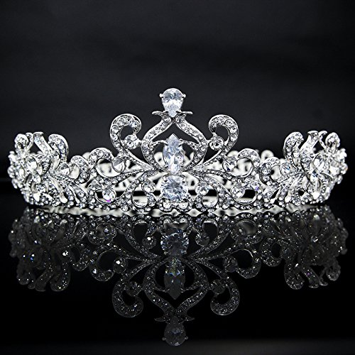 Quantity 1x Taste queen 's_ Crown Tiara Party Wedding Headband Women Bridal Princess Birthday Girl Gift Rhinestone ing _European_ jewelry Bridal Wedding Princess Headdress Wedding _upscale_ by Generic