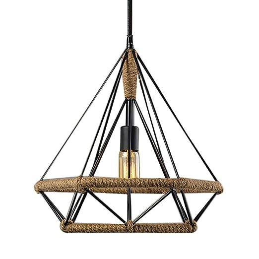 industriales lámpara colgante vintage cáñamo cuerda de metal ...