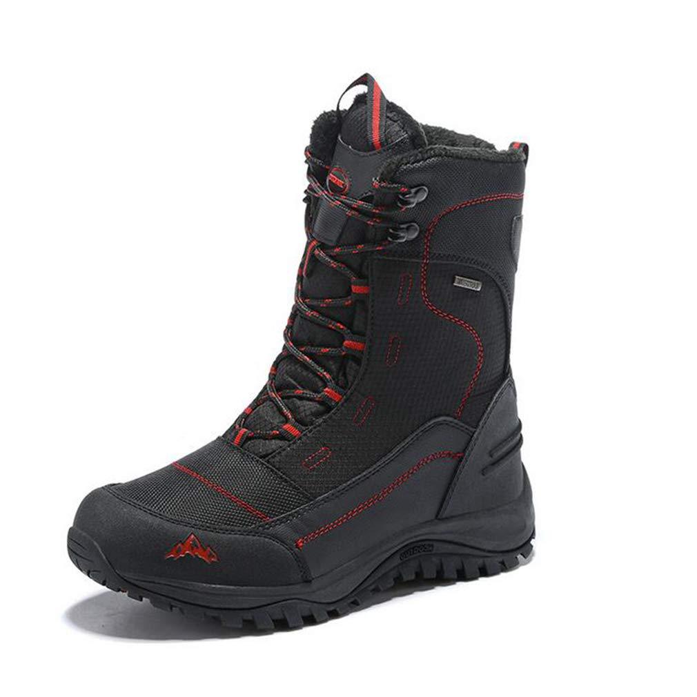 Hy Unisex-Skischuhe, Winter Outdoor Plus Cashmere Warm Winddicht wasserdicht Schnee Stiefel Stiefel (Farbe   rot Female Models, Größe   38)