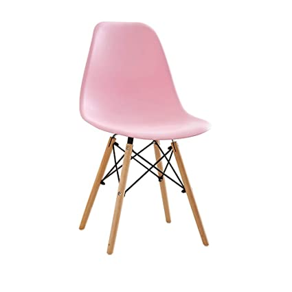 Pleasant Amazon Com Yn Bar Stool Eames Chair Pink Girl Wooden Modern Gamerscity Chair Design For Home Gamerscityorg