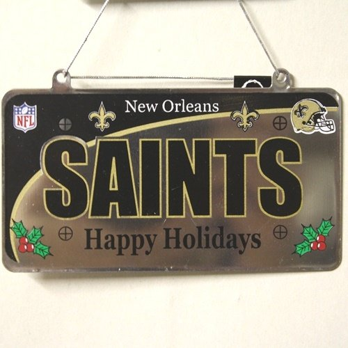 New Orleans Saints NFL License Plate Christmas Ornament