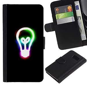 Paccase / Billetera de Cuero Caso del tirón Titular de la tarjeta Carcasa Funda para - Remember Edison - Samsung Galaxy S6 SM-G920