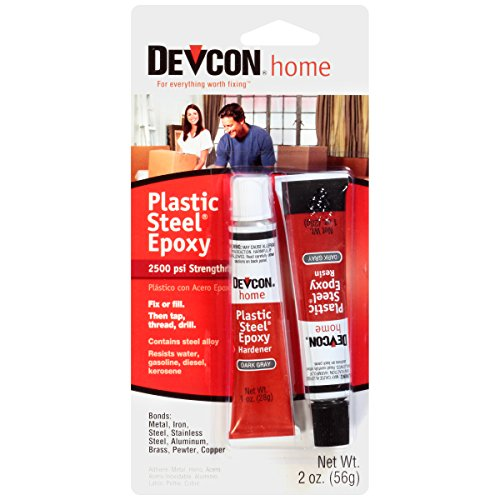 - Devcon 52345 Plastic Steel Epoxy - 1 oz. 2-Part Tube