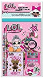 L.O.L. Surprise! Calculator Set with School Supplies for Girls - 7 Pieces