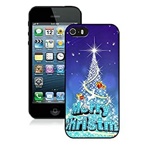 Diy Design Sparkle Iphone 5S Protective Cover Case Christmas Tree iPhone 5 5S TPU Case 1 Black