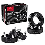 Wheel Spacers 5x4.5 for Jeep TJ YJ XJ KJ ZJ, 1.5'' Forged Anodized Wheel Adapters, 1/2''x20 Studs & 82.5mm Hub Bore for Jeep Wrangler, Grand Cherokee, Liberty, Comanche
