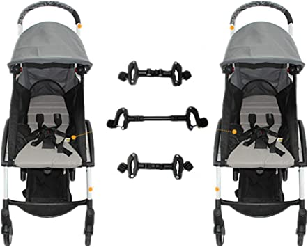 Conectores universales para cochecito de bebé, ajustables, para gemelos