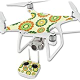 MightySkins Protective Vinyl Skin Decal for DJI Phantom 4 Quadcopter Drone wrap cover sticker skins Flower Power1