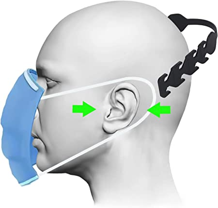 Teetox Mask Extender Hooks Adjustable Mask Ear Cord Extension Buckle Anti-Slip Mask Extension Strap Relieves Discomfort and Pain in Your Ears Compatible with All Kinds of Mask