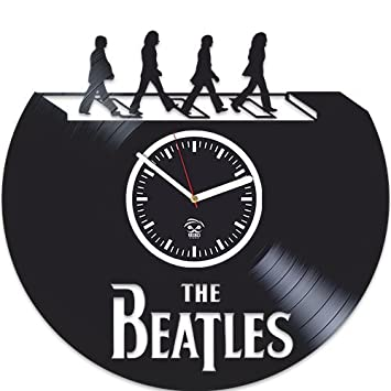 Vinyl Wall Clock, The Beatles, Paul Mccartney, John Lennon, Handmade Best Gift For Musician, Vinyl Record, Birthday Gift, Silent, Wall Clock Large, Wall Sticker, Rock Music Band, Kovides