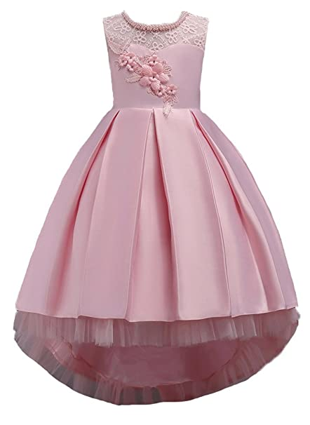 803c2cf57e60 Amazon.com  INCIPHER Pearl Flower Girl Dresses for Pageant Party ...