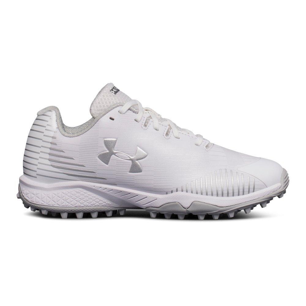 Under Armour Women's Finisher Turf Lacrosse Shoe, White (101)/White, 9.5