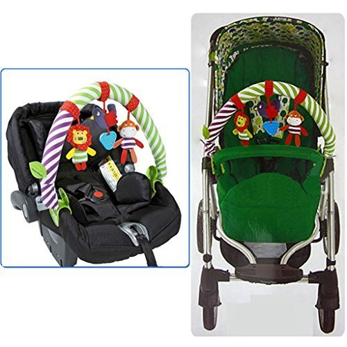 Baby Stroller Mobile Musical Animal Doll Rattles Clip Toy