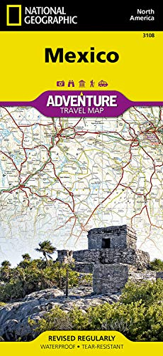 Adventure Geographic Paper National Map (Mexico (National Geographic Adventure Map))
