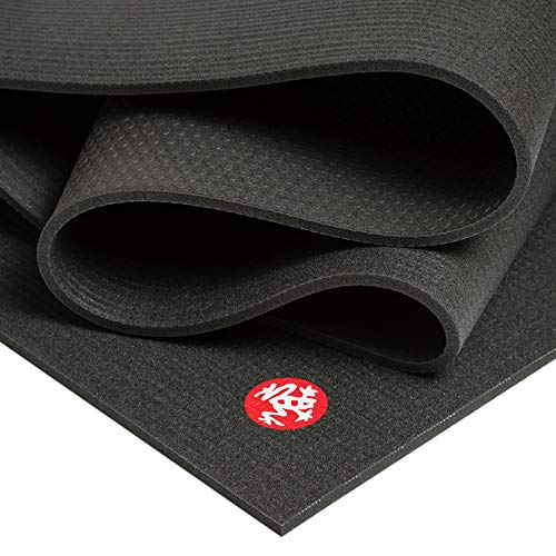 Manduka PRO Yoga Mat Premium 6mm Thick Mat, Eco Friendly, Oeko-Tex Certified and Free of ALL Chemicals. High Performance Grip, Ultra Dense Cushioning for Support and Stability in Yoga, Pilates, Gym and Any General Fitness.
