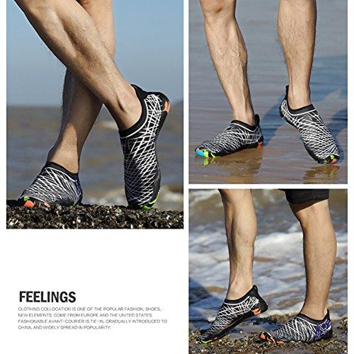 Playa acuático la de Yoga Blanco de de la para la Skin Shoes Descalzo Aqua de Nadada Calcetines Saguaro Resaca P4qHt4