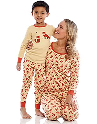 Leveret Women's Printed 2 Piece Christmas Pajama Set Top & Pants 100% Cotton (Size XS-XL)