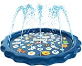 "SplashEZ 3-in-1 Sprinkler for Kids, Splash Pad, and Wading Pool for Learning - Children's Sprinkler Pool, 60'' Inflatable Water Toys - ""from A to Z"" Outdoor Swimming Pool for Babies and Toddlers: more info"