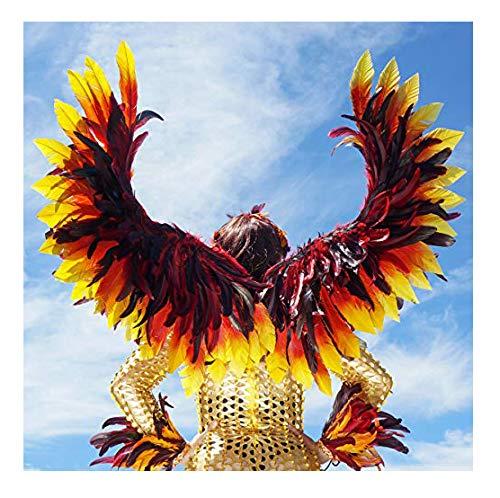 ZUCKER Phoenix Firebird Feather Wings - Adjustable Fiery Cosplay Halloween Costume