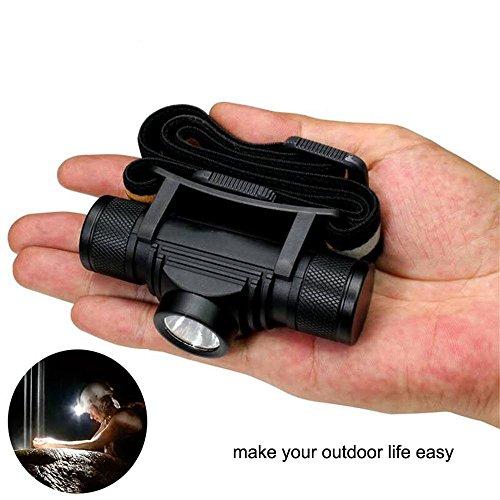 (Compact LED Headlamp 800 lm Micro USB Rechargeable Waterproof Headlight (single light) )