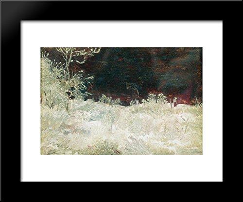 Winter. Moscow suburbs 20x24 Framed Art Print by Ivan Shishkin